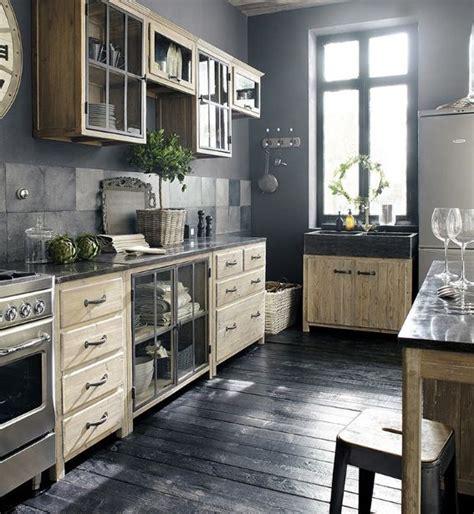 cuisine industrielle meubles de cuisine indépendant et ilot maison du monde