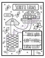Coloring Office Schrute Farms Adult Printable 5pck sketch template