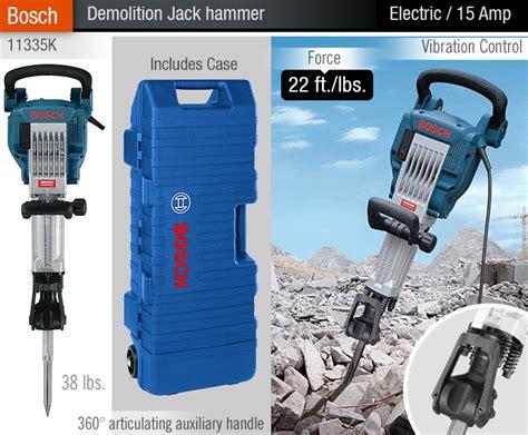 bosch jackhammer electric pneumatic hammers demo
