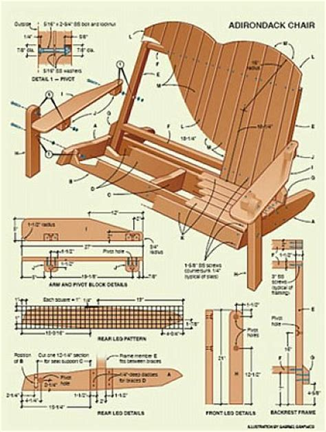folding adirondack chair plans wood craft ideas