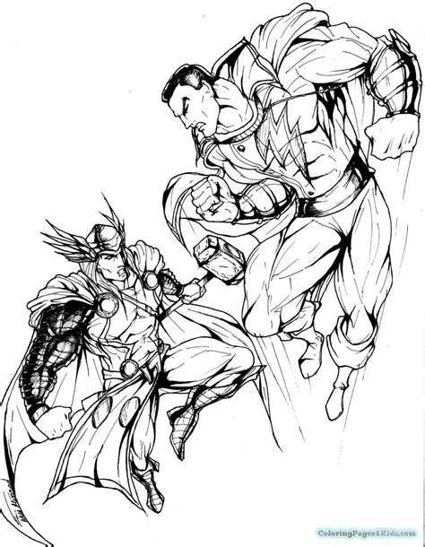 marvel superhero coloring pages to print coloring pages