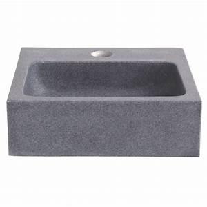 Lave Main Rectangulaire : vente de lave mains lavabo rectangulaire en granit pas cher ~ Premium-room.com Idées de Décoration