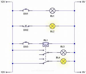 Relay Ladder Logic Diagram - Autodesk  Autocad