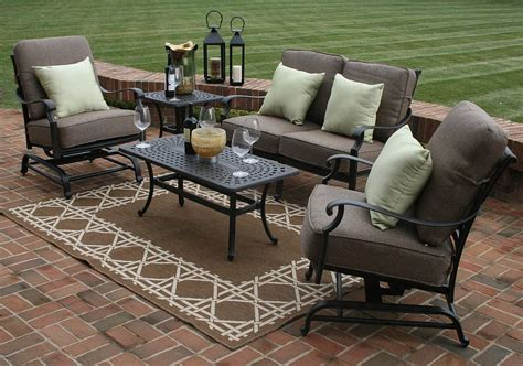 Walmart Outdoor Rocking Chair Cushions by Herve 5 Piece Deep Seating Furniture Set Oal7144