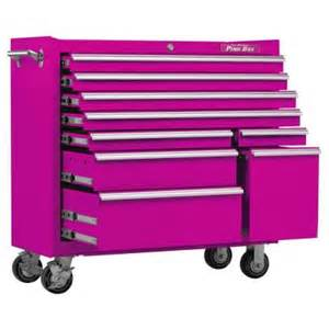 the original pink box 41 in 9 drawer rolling cabinet with pink pb4109r the home depot