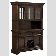 Charleston Tobacco Brown Buffet With Hutch From Standard