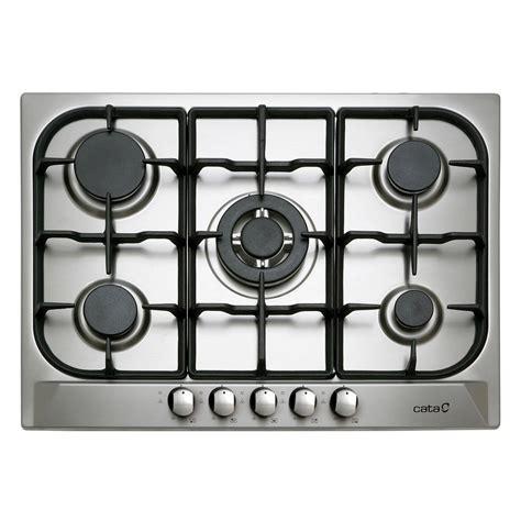 plaque cuisine gaz plaque de cuisson gaz 5 foyers inox cata apelson l705ti leroy merlin