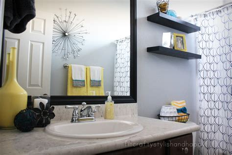 gray bathroom decorating ideas fit crafty stylish and guest bathroom makeover