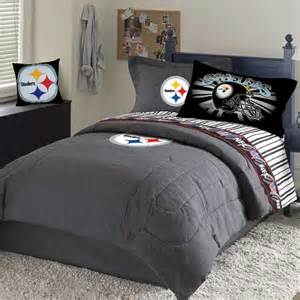 pittsburgh steelers team denim queen size comforter sheet sets