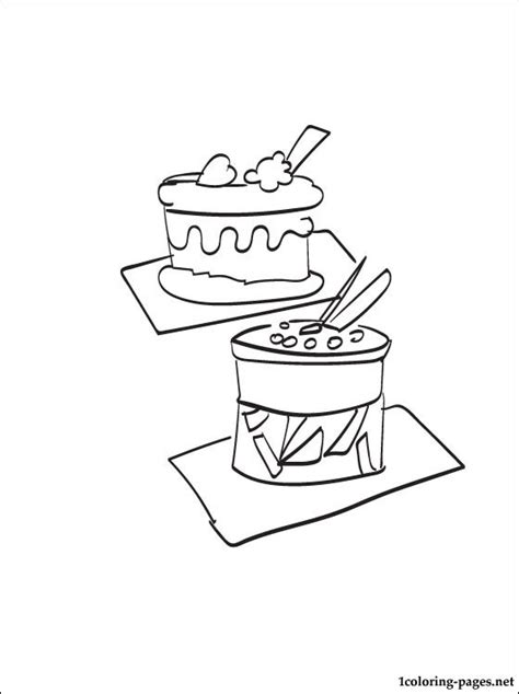 pastry coloring page coloring pages