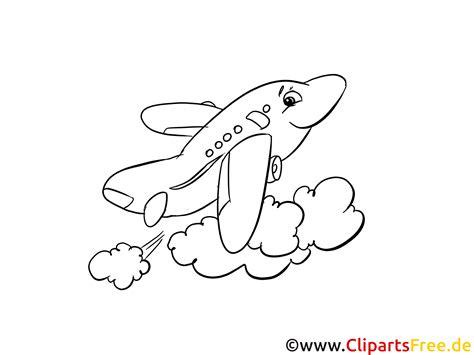 cartoon flugzeug ausmalbild zum ausmalen