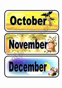 The Names Of The Months  October-november-december