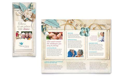hospice home care tri fold brochure template design