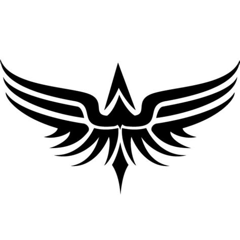 tribal wings tattoo vector clip art vector
