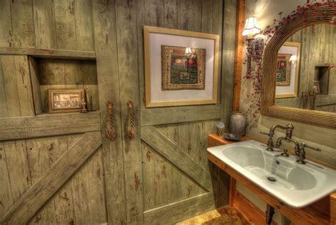western bathroom designs rustic powder room with barn door wall sconce zillow digs