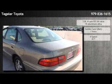 Tegeler Toyota by 1998 Toyota Avalon Sedan Xls W Seats Burton