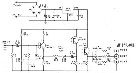 Vcr Antenna Switch Circuit Diagram by Circuit Zone Electronic Projects Electronic