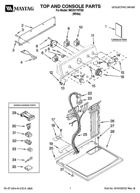 maytag med5770tq0 dryer parts and accessories at partswarehouse