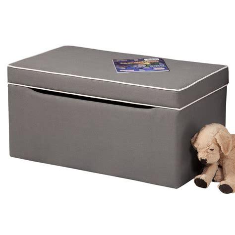 grey ottoman storage box storage ottoman kinfine toy box bench grey white