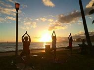 Yoga Sunset Beach Hawaii