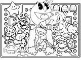 Games Coloring Arcade Tickets Characters Character Drawing Template Drawings sketch template