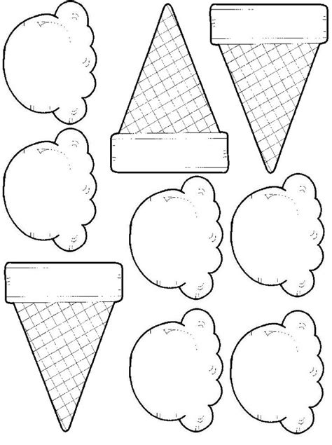 pin  nisreen massad  cake coloring pages ice cream