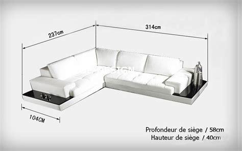 donne canapé d angle canapé d 39 angle design en cuir loretto avec casiers de