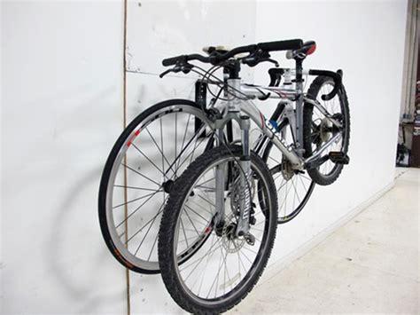 wall mounted bike rack gear up the wall deluxe horizontal wall mount bike