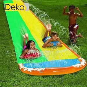Tapis De Glisse 20m : ideko tapis de glisse double toboggan eau piscine jeu ~ Dailycaller-alerts.com Idées de Décoration