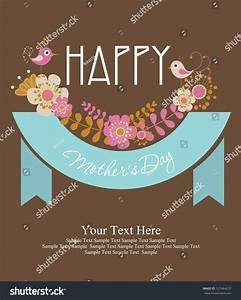Happy Mothers Day Card Design Vector Stock Vector ...