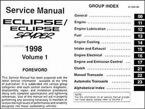 1998 Mitsubishi Eclipse  Eclipse Spyder Repair Shop Manual