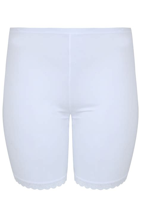 c add to container with templates white thigh smoother brief with lace detail hem plus size