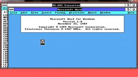 Windows Microsoft Word by Microsoft Word 1 0 For Windows