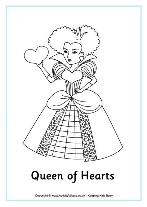 coloring page queen  hearts coloring pages
