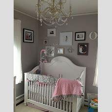 Pink Grey White Baby Girls Room  Babies Room Pinterest