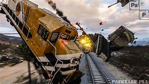 GTA V - Train Derailment Epic Crash Tests High Speed - YouTube