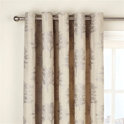 john lewis oakley trees eyelet lined curtains natural