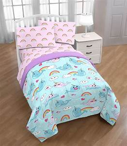 Trend, Collector, Narwhal, And, Rainbow, Kids, Bed