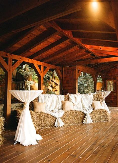 ways   hay bales   country wedding deer