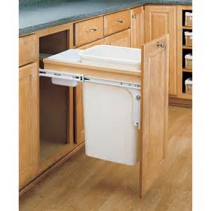 shop rev a shelf 50 quart plastic pull out trash can at lowes