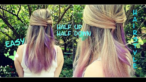 Quick And Easy Half Up Half Down Hairstyle For Medium To