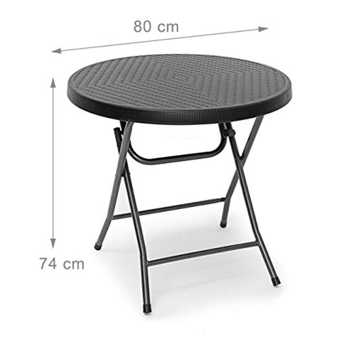 table de terrasse pliante relaxdays relaxdays table pliante de jardin bastian ronde