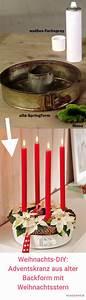 Deko Für Adventskranz : diy deko f r weihnachten adventskranz aus alter backform basteln clara deco pinterest ~ Buech-reservation.com Haus und Dekorationen