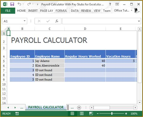 Free Pay Stub Template With Calculator 9 Free Pay Stub Template With Calculator Secure Paystub