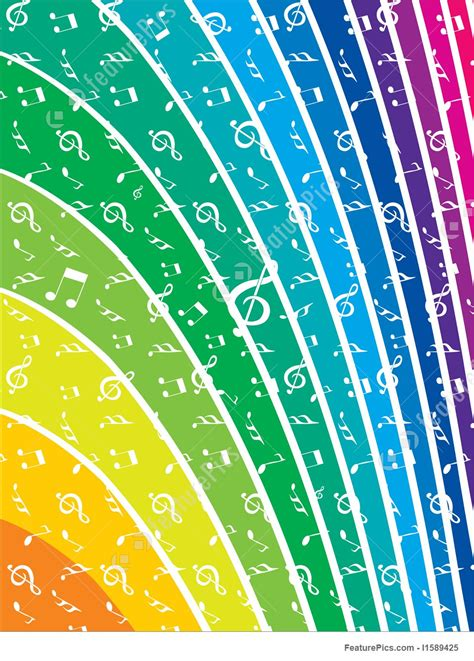 vector  note rainbow design element stock