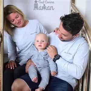Vetement Assorti Mere Fils : sweat famille d amour gris chin ou noir la mode en famille ~ Melissatoandfro.com Idées de Décoration