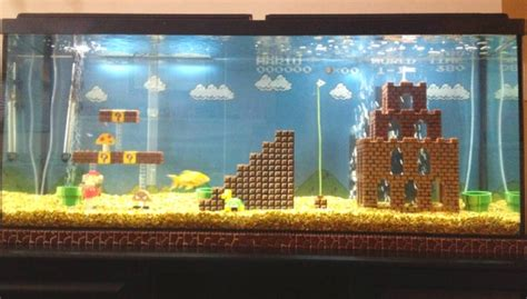 decor de fond aquarium diy mario aquarium decor petdiys