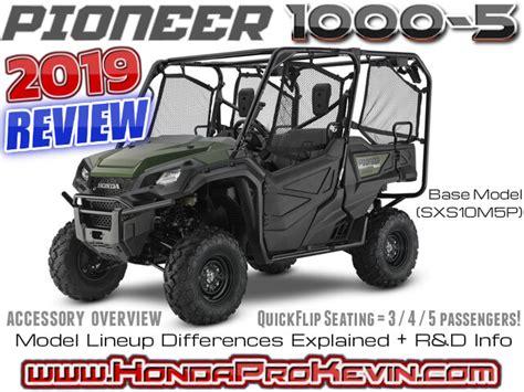 2019 Honda Pioneer 10005 Review  Specs + Accessories
