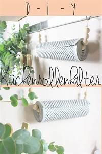 Sockelblende Küche Selber Machen : diy k chenrollenhalter aus holzkugeln selber machen ganz ~ Lizthompson.info Haus und Dekorationen