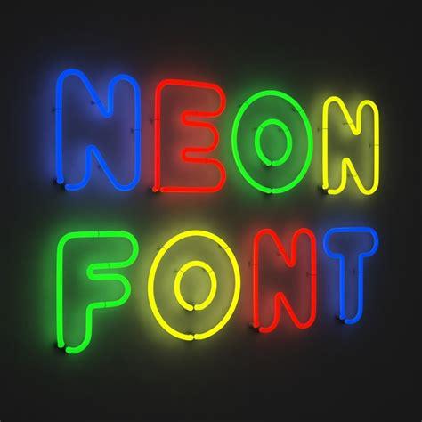 neon light letters font 3d neon font